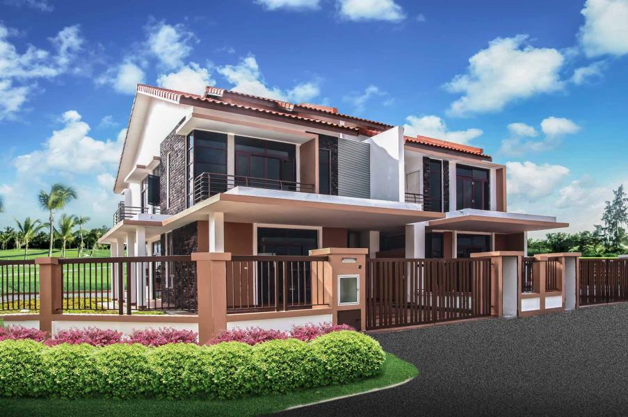 Rini heights new 2 sty terrace link house for sale in for Home design johor bahru